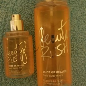 Vs Pink Beauty Rush Slice of Heave body set. Rare